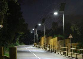 Stalpi de iluminat solar echipati complet PV-3M 3