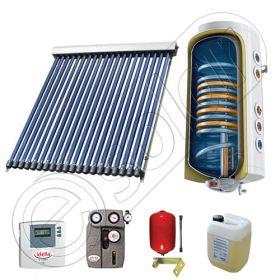 Pachet cu panou solar cu tuburi vidate, Panou solar cu tuburi vidate cu boiler termoelectric, Panouri cu tuburi vidate si boiler SIU 1x20-120.1TE