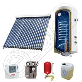 Panouri cu tuburi vidate si boiler SIU 1x22-120.1TE, Pachet cu panou solar cu tuburi vidate, Panou solar cu tuburi vidate cu boiler termoelectric
