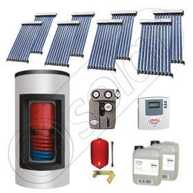 Panouri solare China Solariss Iunona, Panouri solare cu boiler Kombi si un schimbator de caldura, Panou solar cu tuburi vidate si boiler cu o serpentina