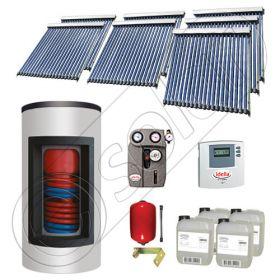 Set panou solar cu tuburi vidate cu boiler Kombi cu doua serpentine, Pachet cu panou solar cu tuburi vidate, Panouri cu tuburi vidate si boiler tanc in tanc