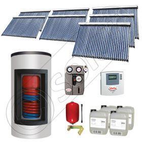 Panouri cu tuburi vidate Solariss Iunona si boiler, Pachet cu panou solar ieftin cu tuburi vidate, Panou solar si boiler Kombi  cu 2 serpentine