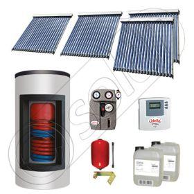 Set panouri solare ieftine cu boiler Kombi de 650/150 litri si doua serpentine, Set panouri solare Solariss Iunona, Pachet cu panou solar China cu tuburi vidate