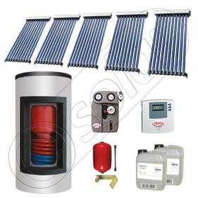 Panouri solare China cu boiler Kombi si un schimbator de caldura, Pachet cu panouri solare cu tuburi vidate, Panouri solare si boiler Solariss Iunona