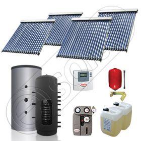 Puffer cu o serpentina si panou solar ieftin cu tuburi vidate, Panouri solare cu puffer monovalent de 1000 litri, Colectoare solare pentru incalzire