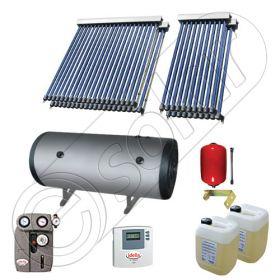Instalatie solara cu tuburi vidate si boiler import China SIU 2x10-2x20-750.2BMH, Colectoare solare cu tuburi vidate fabricate in China, Instalatii solare pentru apa calda cu boiler solar