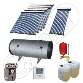 Instalatie solara cu tuburi vidate cu boiler orizontal SIU 1x10-4x20-1000.2BMH, Set colectoare solare cu boiler pentru apa calda tot timpul anului, Panouri solare vidate cu boiler solar la pret rezonabil