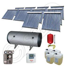 Instalatii solare presurizate cu boiler solar pentru apa calda, Colectoare solare vidate la pachet cu boiler orizontal, Set colectoare solare vidate si boiler orizontal SIU 10x20-2000.2BMH