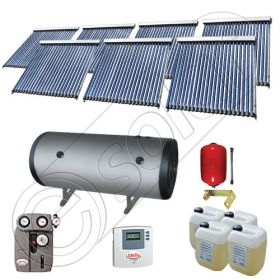 Set Solariss Iunona panouri solare cu boiler, Pachete colectoare solare cu tuburi vidate si boiler, Instalatii solare fabricate in China SIU 7x22-2000.2BMH