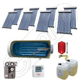 Instalatii solare presurizate pentru apa calda si caldura, Instalatie solara vidata cu boiler orizontal SIU 8x10-750.1BMH, instalatie cu panouri solare vidate la pret rezonabil