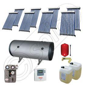 Instalatii solare presurizate pentru apa calda si caldura, Instalatie solara vidata cu boiler orizontal SIU 8x10-750.2BMH, instalatie cu panouri solare vidate la pret rezonabil