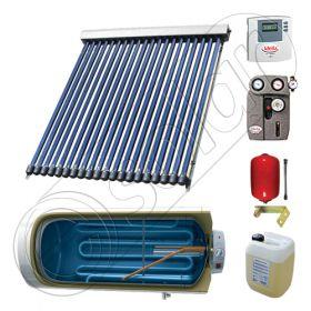 Pachete colectoare solare pentru apa menajera, Instalatii solare cu tuburi vidate si boiler termoelectric SIU 1x20-120.1TEH, Instalatie solara cu tuburi vidate cu boiler termoelectric orizontal
