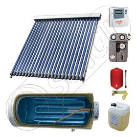 Instalatii solare cu tuburi vidate fabricate in China, Seturi colectoare solare pentru apa calda cu boiler orizontal, Instalatie solara cu tuburi vidate cu boiler termoelectric SIU 1x22-100.1TEH