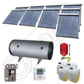 Panouri cu tuburi vidate si boiler Solariss Iunona, Pachet colectoare solare ieftine cu tuburi vidate, Instalatie solara presurizata cu boiler SIU 9x18-2000.2BMH