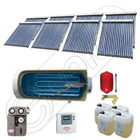 Instalatii solare presurizate pentru apa calda si caldura, Instalatie solara vidata cu boiler orizontal SIU 8x18-2000.1BMH, instalatie cu panouri solare vidate la pret rezonabil