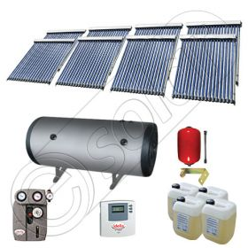 Instalatii solare presurizate pentru apa calda si caldura, Instalatie solara vidata cu boiler orizontal SIU 8x18-2000.2BMH, instalatie cu panouri solare vidate la pret rezonabil