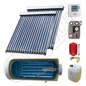 Panou solar ieftin cu tuburi vidate si boiler cu o serpentina, Panouri solare cu boiler monovalent de 200 litri, Colectoare solare pentru apa calda