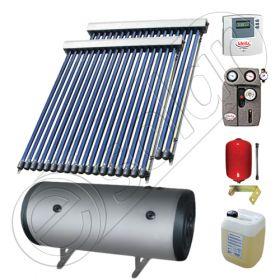 Panouri solare ieftine cu boiler bivalent de 200 litri, Pachet cu panou solar cu tuburi vidate, Instalatii solare pentru apa calda Solariss Iunona