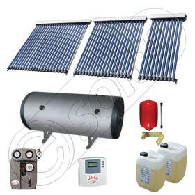 Panouri cu tuburi vidate Solariss Iunona si boiler, Instalatie presurizata solara pentru apa calda, Panou solar si boiler cu 2 serpentine