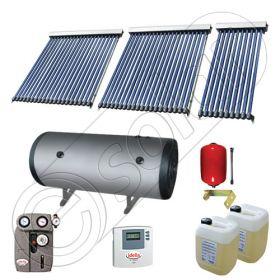 Pachet cu panou solar apa calda tot anul, Instalatii solare si boiler cu 2 serpentine, Boiler si panouri cu tuburi vidate Solariss Iunona