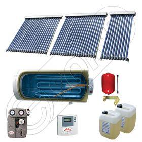 Panouri solare Solariss Iunona, Boiler cu o serpentina si panou solar cu tuburi vidate, Instalatii presurizate ieftine pentru apa calda