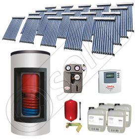 Panouri solare China cu boiler Kombi si un schimbator de caldura, Pachet cu panouri solare apa calda tot anul, Panouri solare si boiler Solariss Iunona