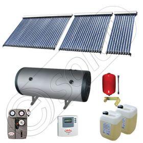Boiler bivalent de 400 litri si panouri solare ieftine, Pachet cu panou solar cu tuburi vidate, Instalatii solare pentru apa calda Solariss Iunona