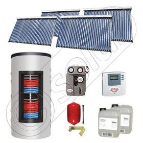 Panouri solare cu tuburi vidate import China, Seturi colectoare solare si boiler instant SIU 4x30-800.43.3BI, Set colectoare solare cu tuburi vidate si boiler instant 800 litri