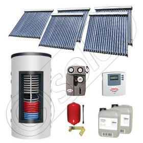 Panouri solare cu tuburi vidate import China, Seturi colectoare solare si boiler instant SIU 5x20-800.43.2BI, Set colectoare solare cu tuburi vidate si boiler instant 800 litri