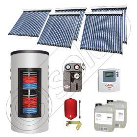 Panouri solare cu tuburi vidate import China, Seturi colectoare solare si boiler instant SIU 5x20-800.43.3BI, Set colectoare solare cu tuburi vidate si boiler instant 800 litri