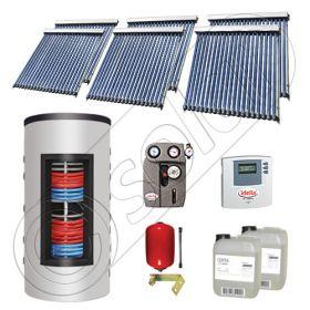 Panouri solare cu tuburi vidate import China, Seturi colectoare solare si boiler instant SIU 6x20-800.43.3BI, Set colectoare solare cu tuburi vidate si boiler instant 800 litri