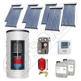 Set colectoare solare cu tuburi vidate si boiler instant 500 litri, Panouri solare cu tuburi vidate import China, Seturi colectoare solare si boiler instant SIU 7x10-500.33.2BI