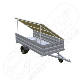 Instalatie fotovoltaica mobila IDELLA Mobile Energy IME 4 montata pe remorca, cu 4 panouri solare IDELLA Power Poly IPP 550W, ideala pentru aplicatii agricole sau santiere temporare