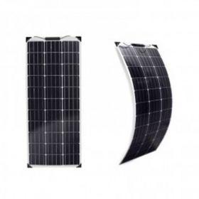 Kit fotovoltaic precablat pentru rulote, autorulote si barci cu un panou solar monocristalin flexibil 110W 12V pentru spatii reduse si un regulator de incarcare PWM 10A 12V – 24V pret ieftin 4