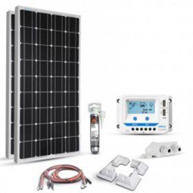 Kit pentru barci si autorulote cu 2 panouri fotoelectrice monocristaline 180W 12V, un regulator de incarcare solar PWM 30A 12V – 24V si un sistem pentru trecerea cablurilor prin acoperis pret ieftin
