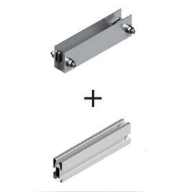 Piesa de conectare pentru structurile din aluminiu montate pe acoperisurile inclinate din tabla pentru sustinerea panourilor fotovoltaice monocristaline si policristaline pret ieftin