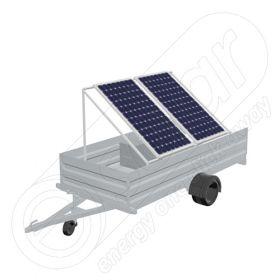 Remorca solara fotovoltaica mobila IDELLA Mobile Energy IME 2 pentru aplicatii agricole sau santiere temporare