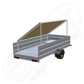 Remorca solara generator fotovoltaic mobil IDELLA Mobile Energy IME 3, cu trei panouri solare IDELLA Power Poly IPP 550W pentru aplicatii agricole sau santiere temporare