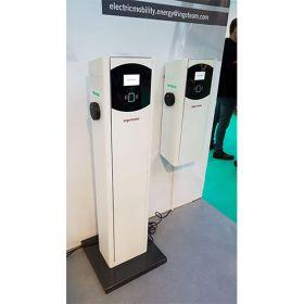 Statie electrica de incarcare a masinilor electrice si hibride, cu doua prize, ce poate fi montata in apropierea parcarilor, avand puteri nominale de 14.8 kW (7.4 kW si 7.4 kW) sau 44 kW (22 kW si 22 kW) pret ieftin 2