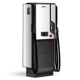 Statii electrice de incarcare rapida pentru masini hibride si electrice, cu cabluri CCS2 50kW DC, CHAdeMO 50kW DC si o priza Type 2 de 43kW AC, pentru orice model de masina, cu ecran tactil si sistem de operare multilingv pret ieftin