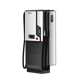 Statie de incarcare rapida pentru masini electrice si hibride, cu cabluri CCS2 50kW DC, CHAdeMO 50kW DC si o priza Type 2 de 22kW AC, cu design modern, conectata la platforma de management online pret ieftin 2