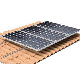 Structura de prindere din aluminiu cu tija pentru 1 panou fotovoltaic 1650/2000 x 1000 (35-50 mm), cu dispunerea pe verticala a modulului pret ieftin