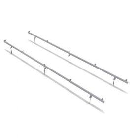 Structura de prindere din aluminiu cu tija pentru 1 panou fotovoltaic 1650/2000 x 1000 (35-50 mm), cu dispunerea pe verticala a modulului pret ieftin 2
