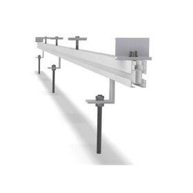 Structura de prindere din aluminiu cu tija pentru 1 panou fotovoltaic 1650/2000 x 1000 (35-50 mm), cu dispunerea pe verticala a modulului pret ieftin 3