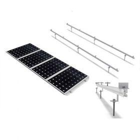 Structura de prindere din aluminiu cu tija pentru 1 panou fotovoltaic 1650/2000 x 1000 (35-50 mm), cu dispunerea pe verticala a modulului pret ieftin 4
