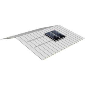 Structura de prindere fixa din aluminiu pentru acoperis din tabla pentru 5 panouri fotovoltaice, compatibila cu modulele solare 1650/2000 x 1000 mm (35 - 50 mm) pret ieftin