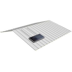 Structura de prindere fixa din aluminiu pentru acoperis din tabla pentru 5 panouri fotovoltaice, compatibila cu modulele solare 1650/2000 x 1000 mm (35 - 50 mm) pret ieftin 3