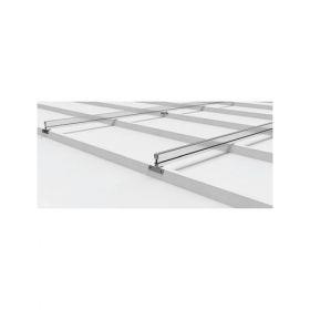 Structura din aluminiu pentru 2 module solare cu prindere pe acoperisurile inclinate din tabla cu dispunerea pe verticala a panourilor pret ieftin 3