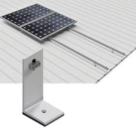 Structura din aluminiu pentru 4 panouri fotovoltaice montate pe verticala, pentru acoperis din tabla pret iefitn
