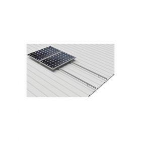 Structura din aluminiu pentru 4 panouri fotovoltaice montate pe verticala, pentru acoperis din tabla pret iefitn 3